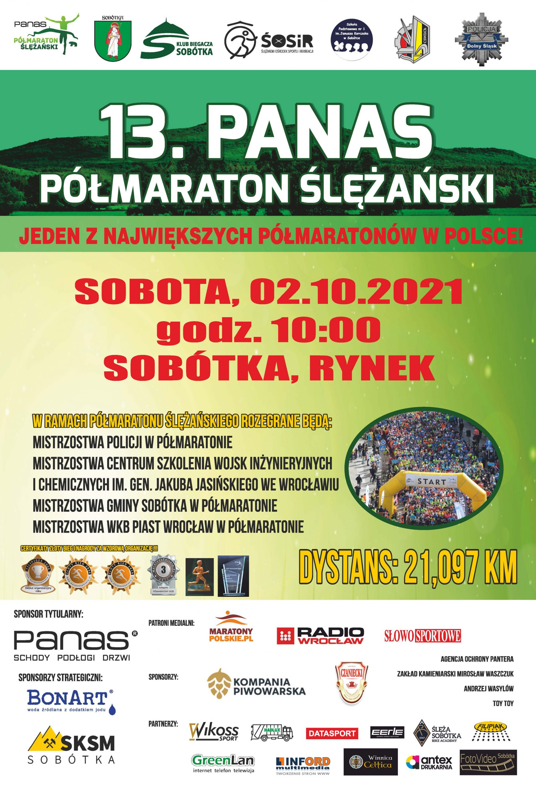 Plakat 13. Panas Półmaraton Ślężański